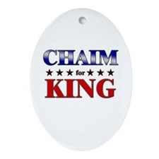 CHAIM for king Oval Ornament
