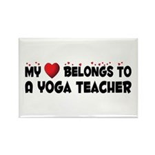 Belongs To A Yoga Teacher Rectangle Magnet (100 pa