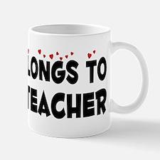 Belongs To A Yoga Teacher Mug