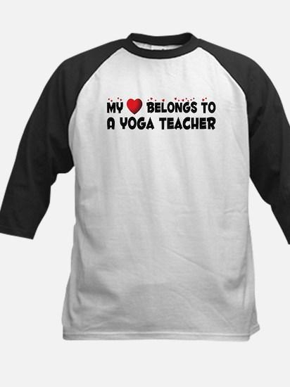 Belongs To A Yoga Teacher Kids Baseball Jersey