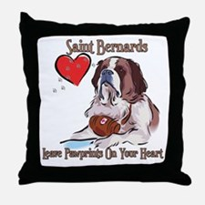 St Bernards Leave Paw Prints On Your Heart Throw P
