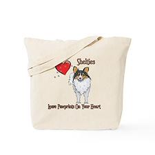 Shelties Leave Paw Prints Tote Bag