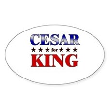 CESAR for king Oval Decal