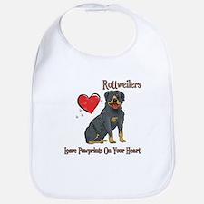 Rottweilers Leave Paw Prints Bib