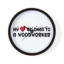 Belongs To A Woodworker Wall Clock