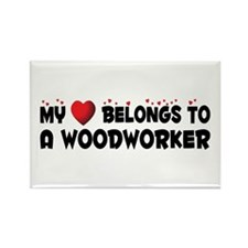 Belongs To A Woodworker Rectangle Magnet