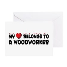 Belongs To A Woodworker Greeting Card