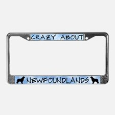 Crazy About Newfoundlands License Plate Frame