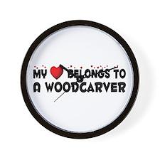 Belongs To A Woodcarver Wall Clock