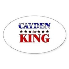CAYDEN for king Oval Decal
