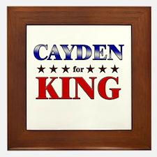 CAYDEN for king Framed Tile