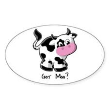 Holy Cow! - Cow Oval Decal