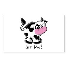 Holy Cow! - Cow Rectangle Decal