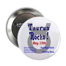 Taurus May 13th Button