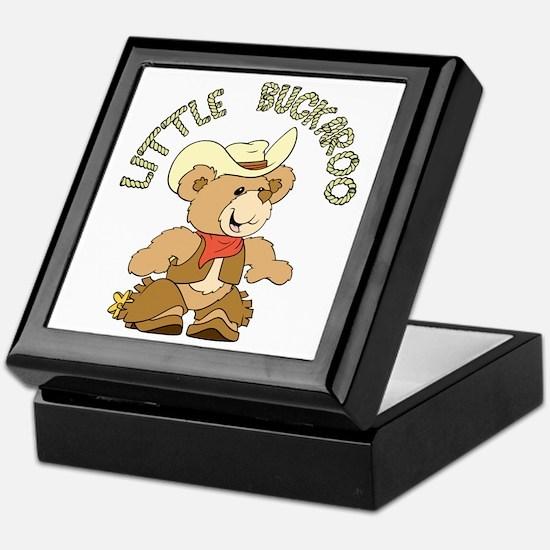 Little Buckaroo Bear Keepsake Box