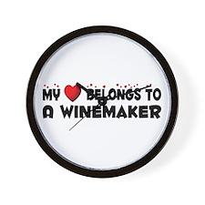 Belongs To A Winemaker Wall Clock