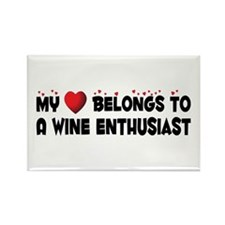 Belongs To A Wine Enthusiast Rectangle Magnet (10