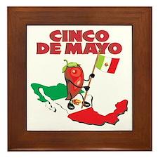 Cinco de Mayo Mexican Framed Tile