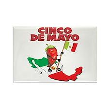 Cinco de Mayo Mexican Rectangle Magnet