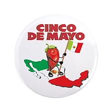 "Cinco de Mayo Mexican 3.5"" Button (100 pack)"