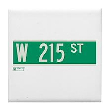 215th Street in NY Tile Coaster