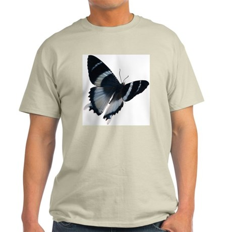 Light Blue and Black Butterfl Light T-Shirt