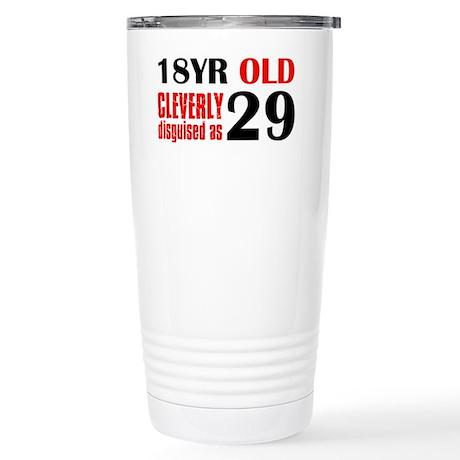 29th birthday design Stainless Steel Travel Mug