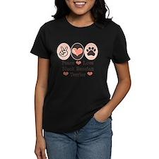 Peace Love Black Russian Terrier Tee
