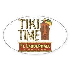 Fort Lauderdale Tiki - Oval Decal