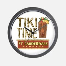 Fort Lauderdale Tiki - Wall Clock