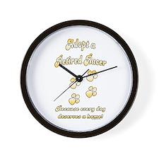 Racer Adopt Gold Wall Clock