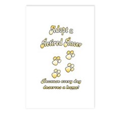 Racer Adopt Gold Postcards (Package of 8)