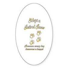 Racer Adopt Gold Oval Decal