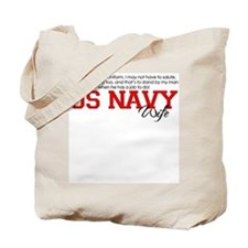 Silent Ranks Navy Wife Tote Bag