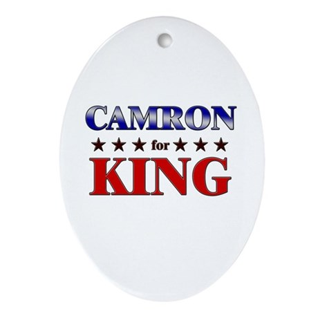 CAMRON for king Oval Ornament