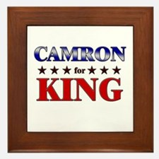 CAMRON for king Framed Tile