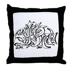 BO GRAFFITI Throw Pillow