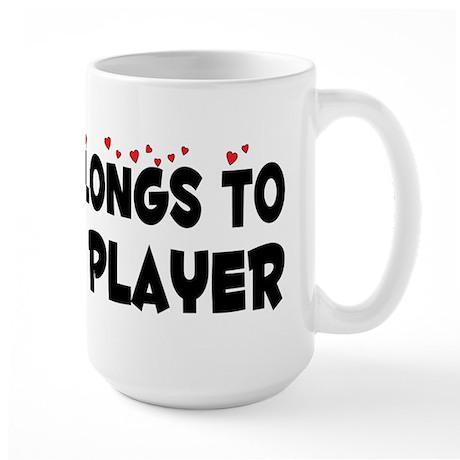Belongs To A Violin Player Large Mug