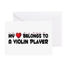 Belongs To A Violin Player Greeting Card