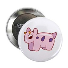 "Pink Cow 2.25"" Button"