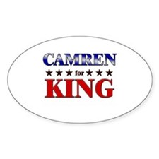 CAMREN for king Oval Decal