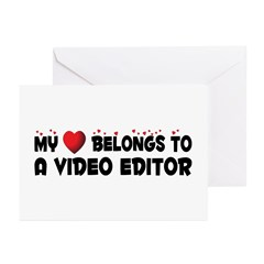 Belongs To A Video Editor Greeting Cards (Pk of 20