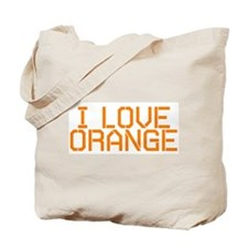 I LOVE ORANGE Tote Bag