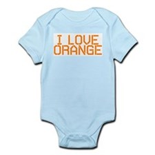 I LOVE ORANGE Infant Bodysuit