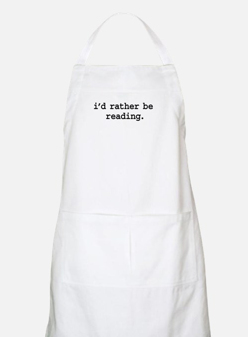 i'd rather be reading. BBQ Apron