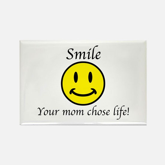 Smile life Rectangle Magnet