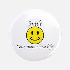 """Smile life 3.5"""" Button"""