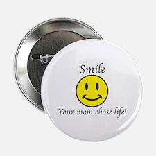 """Smile life 2.25"""" Button"""