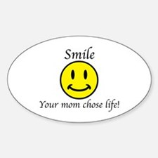 Smile life Oval Decal