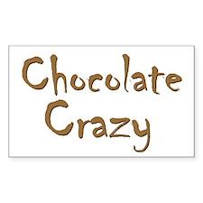 Chocolate Crazy Rectangle Decal